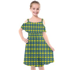 Wannaska Kids  Cut Out Shoulders Chiffon Dress