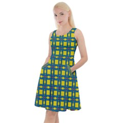Wannaska Knee Length Skater Dress With Pockets