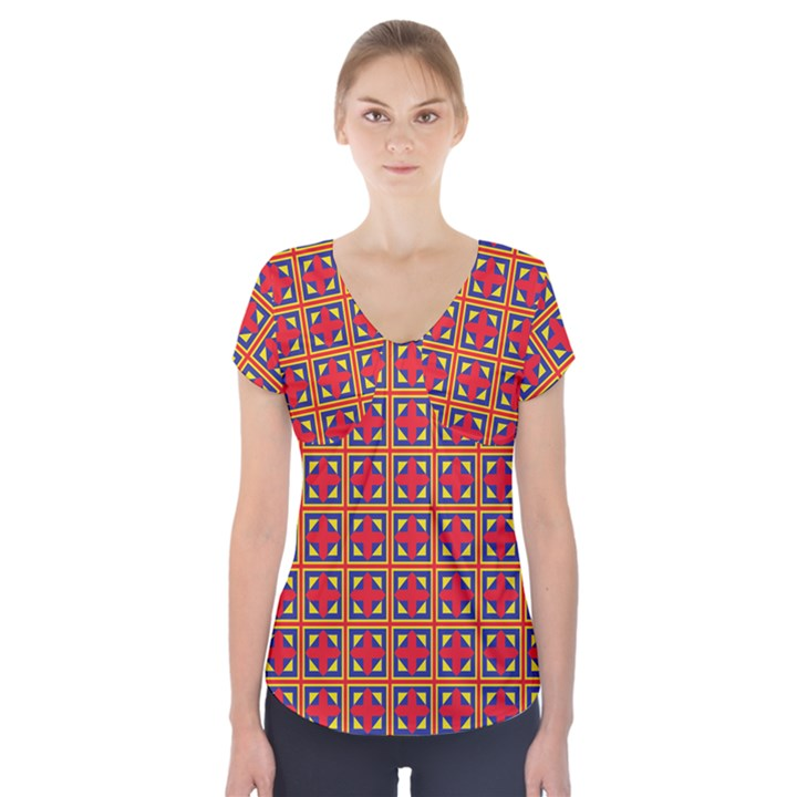 Ambrose Short Sleeve Front Detail Top