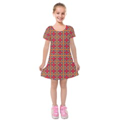 Ambrose Kids  Short Sleeve Velvet Dress by deformigo