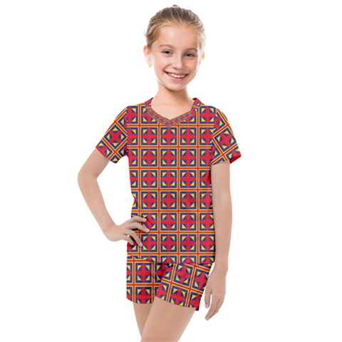 Ambrose Kids  Mesh Tee And Shorts Set by deformigo