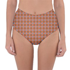 Persia Reversible High-Waist Bikini Bottoms