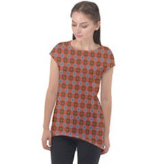 Persia Cap Sleeve High Low Top