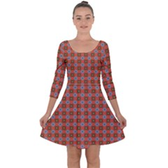 Persia Quarter Sleeve Skater Dress