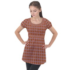 Persia Puff Sleeve Tunic Top