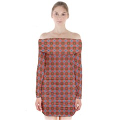 Persia Long Sleeve Off Shoulder Dress