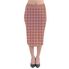 Persia Velvet Midi Pencil Skirt