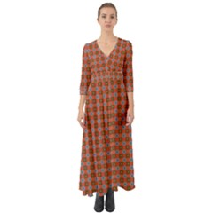 Persia Button Up Boho Maxi Dress