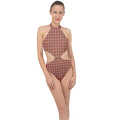 Persia Halter Side Cut Swimsuit