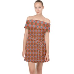 Persia Off Shoulder Chiffon Dress