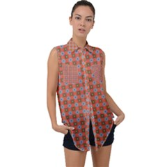Persia Sleeveless Chiffon Button Shirt