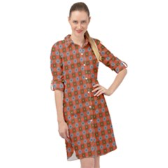 Persia Long Sleeve Mini Shirt Dress