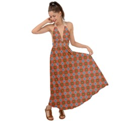 Persia Backless Maxi Beach Dress
