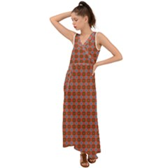 Persia V-Neck Chiffon Maxi Dress