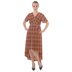 Persia Front Wrap High Low Dress