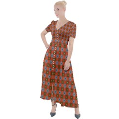Persia Button Up Short Sleeve Maxi Dress