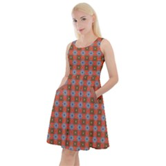 Persia Knee Length Skater Dress With Pockets