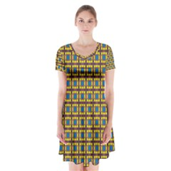 Montezuma Short Sleeve V-neck Flare Dress by deformigo