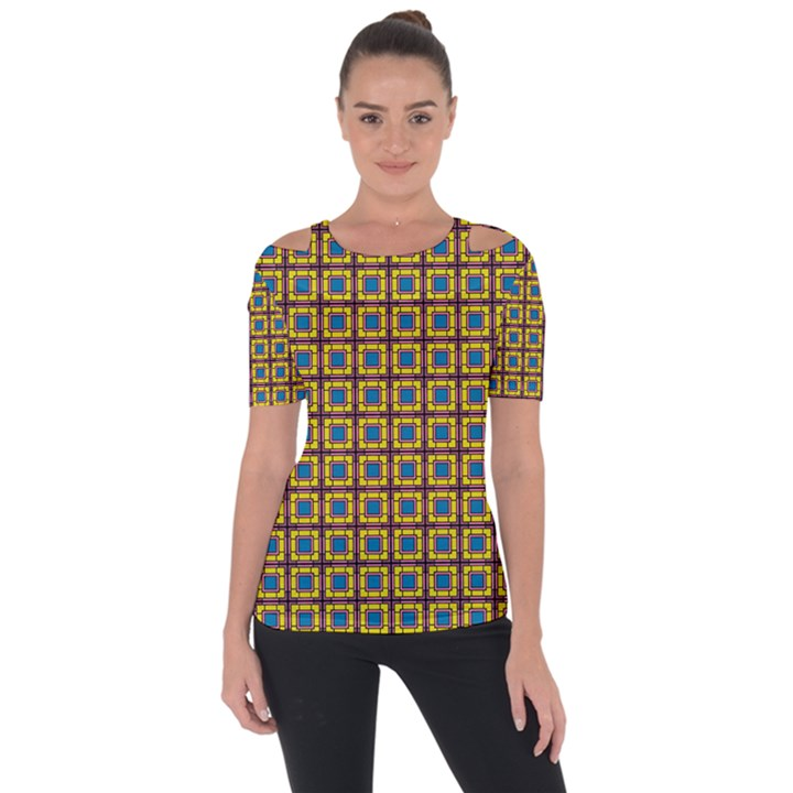 Montezuma Shoulder Cut Out Short Sleeve Top