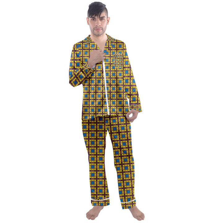 Montezuma Men s Satin Pajamas Long Pants Set