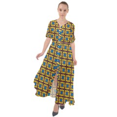 Montezuma Waist Tie Boho Maxi Dress by deformigo
