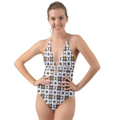 Peola Halter Cut-Out One Piece Swimsuit