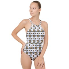 Peola High Neck One Piece Swimsuit