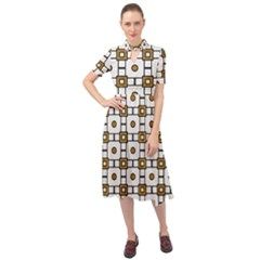 Peola Keyhole Neckline Chiffon Dress by deformigo