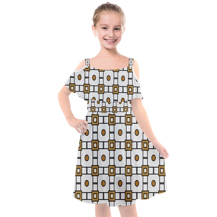 Peola Kids  Cut Out Shoulders Chiffon Dress