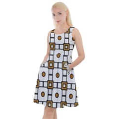 Peola Knee Length Skater Dress With Pockets by deformigo