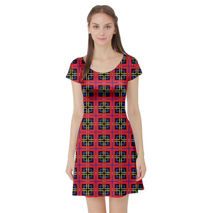 Wolfville Short Sleeve Skater Dress