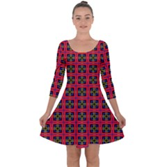 Wolfville Quarter Sleeve Skater Dress