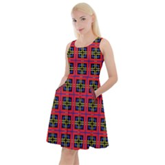 Wolfville Knee Length Skater Dress With Pockets by deformigo