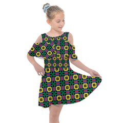 Komodo Kids  Shoulder Cutout Chiffon Dress by deformigo