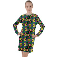 Komodo Long Sleeve Hoodie Dress by deformigo