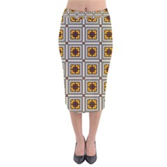 Leptis Velvet Midi Pencil Skirt by deformigo