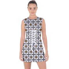 William Fairwell Lace Up Front Bodycon Dress by deformigo