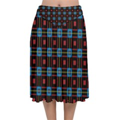 Yakima Velvet Flared Midi Skirt by deformigo