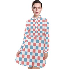 Graceland Long Sleeve Chiffon Shirt Dress
