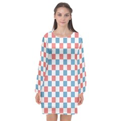 Graceland Long Sleeve Chiffon Shift Dress