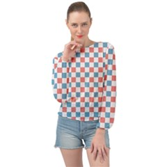 Graceland Banded Bottom Chiffon Top
