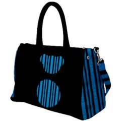 Micho Blue Black Duffel Travel Bag by Micho