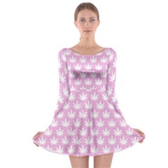Kawaii Cannabis  Long Sleeve Skater Dress