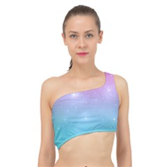 Pastel Goth Galaxy  Spliced Up Bikini Top  by thethiiird