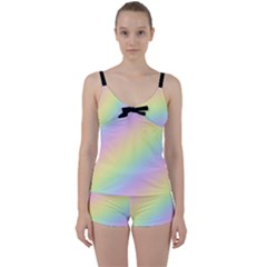 Pastel Goth Rainbow  Tie Front Two Piece Tankini by thethiiird