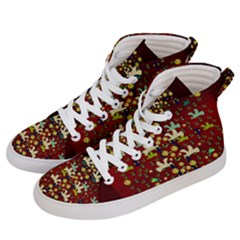 Happy Birds In Freedom And Peace Women s Hi-top Skate Sneakers by pepitasart