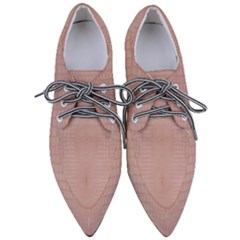 Pink Alligator Print Women s Pointed Oxford Shoes by LoolyElzayat