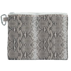 Python Snakeskin Print Canvas Cosmetic Bag (xxl) by LoolyElzayat