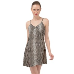 Python Snakeskin Print Summer Time Chiffon Dress by LoolyElzayat