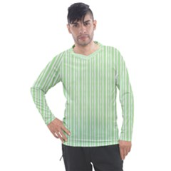 Tarija 016ix Green Neon White Men s Pique Long Sleeve Tee